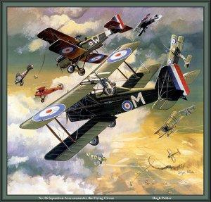 hangar flying dogfight